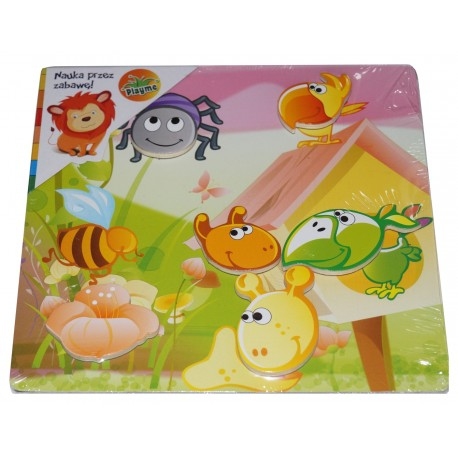 Układanka magnetyczna Owady - to kreatywna zabawka dla dzieci od 1 roku życia - wykorzystywana w terapii sensorycznej