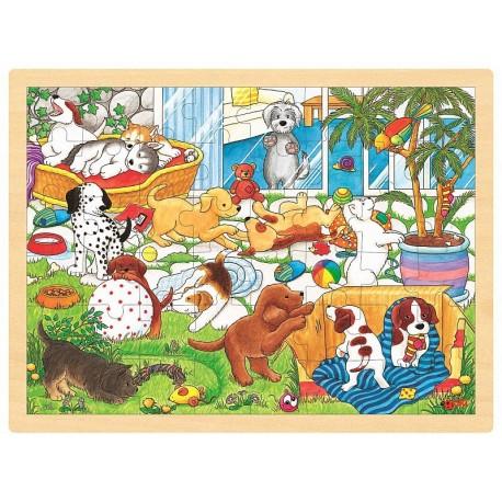 Puzzle Szkoła Zwierząt, Goki to super zabawki edukacyjne dla dzieci powyżej 3 roku życia