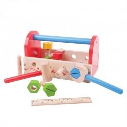Zabawka drewniana dla malucha - Skrzynka narzędzi, Bigjigs