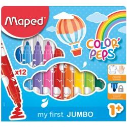 Flamastry colorpeps jumbo 12 kolorów