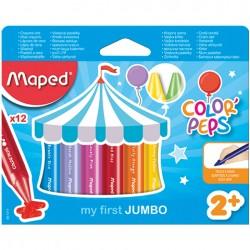Kredki świecowe Jumbo Colorpeps - 12 sztuk