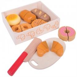Zabawka drewniana - Zestaw Śniadaniowy do krojenia, Bigjigs